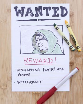 Wanted Poster Character trait, Activities and Reading - book writing