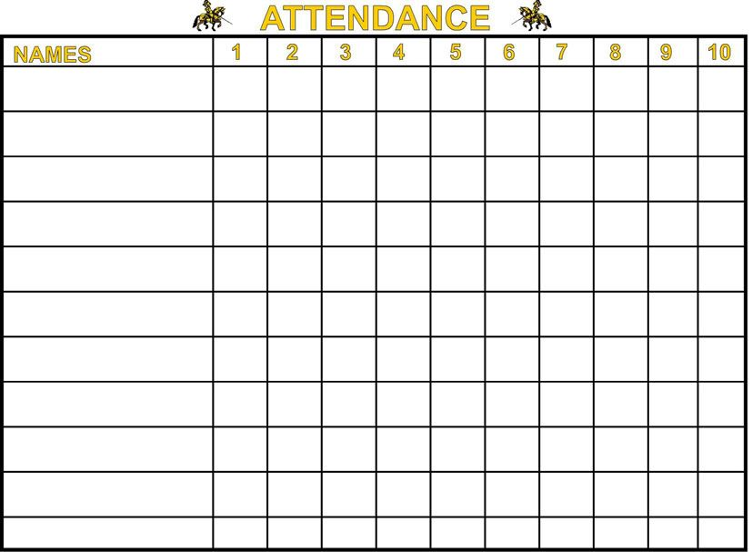 Attendance Charts Graphs cakepins Attendance chart - attendance register sample