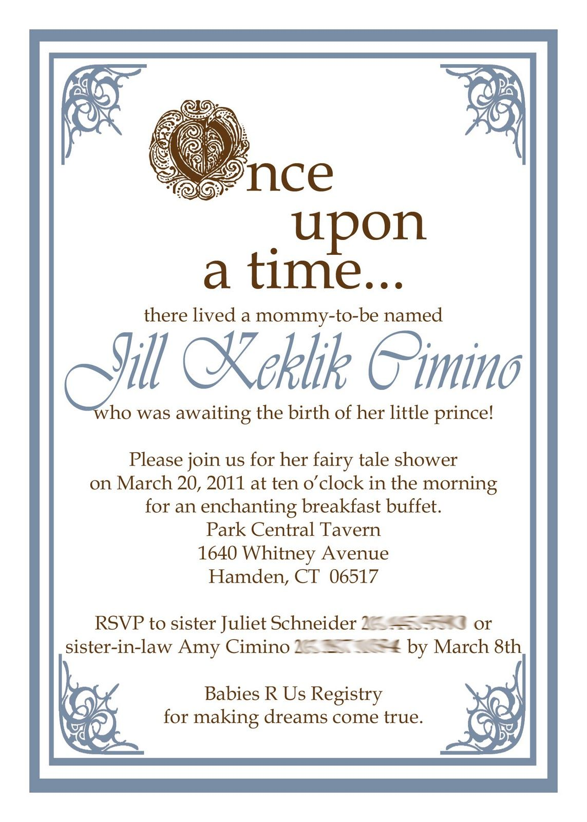 once upon a time baby shower invitation baby showers pinterest
