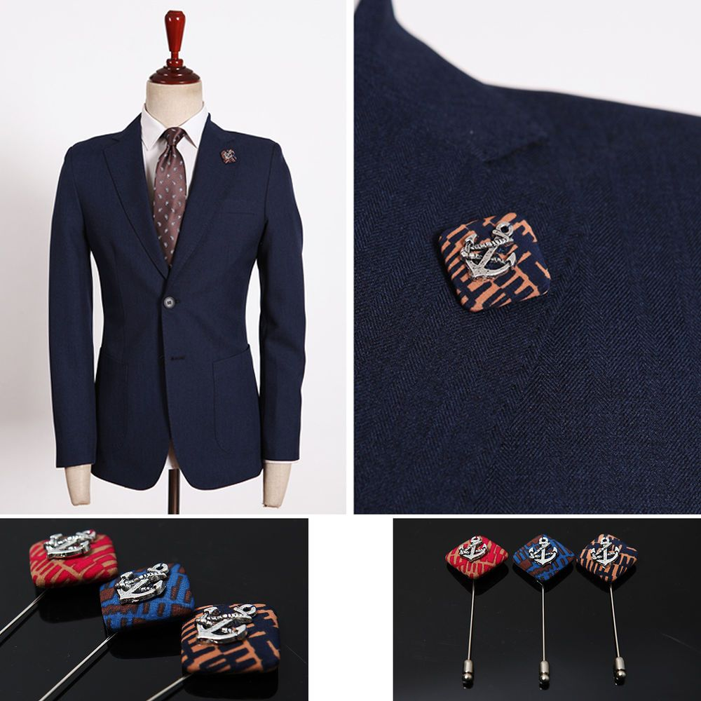 Mens jacket brooch - Details About Men S Accessories Anchor Metal Boutonniere Brooch Corsage Lapel Pin Prom Wedding