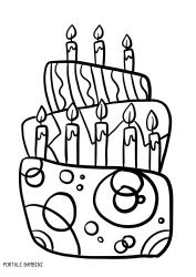 Disegni Da Colorare Per Compleanno Bambina.Scoprite Le Nostre Torte Di Compleanno Da Stampare E Colorare
