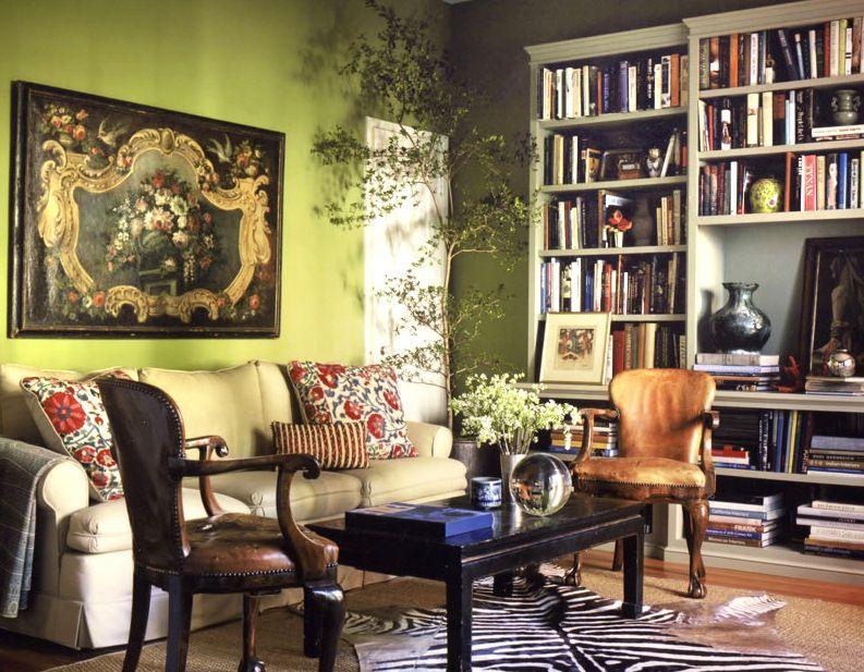 Adorable Fh Style Bohemian Living Room Design Witrh Darkwood Coffee Table  And Cream Sofa Also Zebra Carpet,