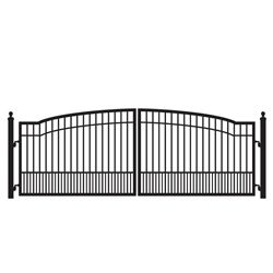Biscayne 12 Ft Dual Driveway Gate Kit Recommended Gate Opener Fm402 Medium Duty Dual Swing Automatic Driveway Driveway Fence Steel Gate Design Driveway Gate