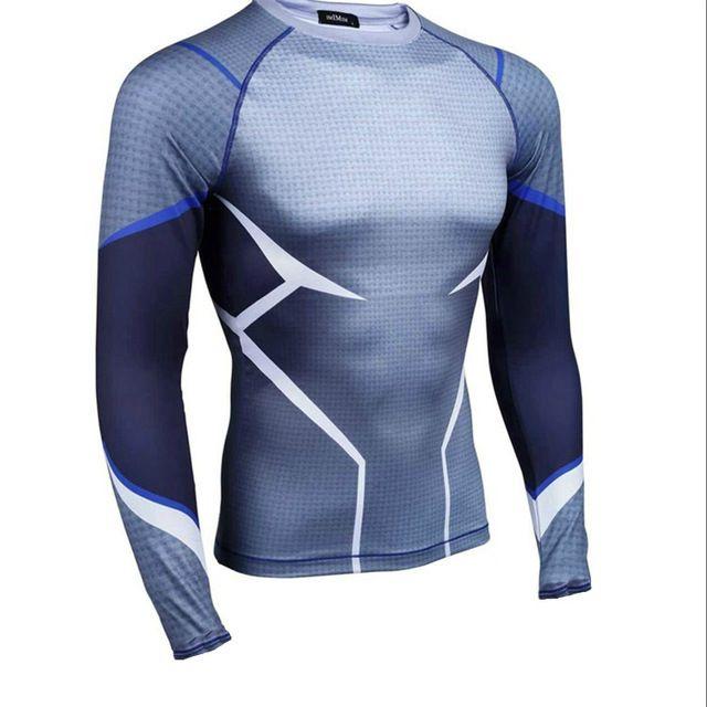 2017 Superhero The Avenger QickSilver Cabida Manga Larga Para Hombre  Camiseta de Compresión Apretado Camiseta 3D Impreso Tops 610c3f36e16cd