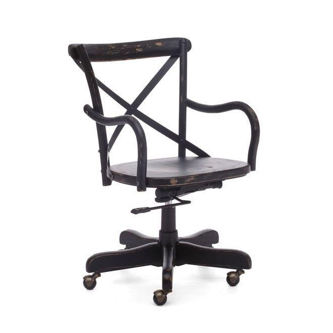 Cafe Desk Chair   Antique Black | Dotandbo.com