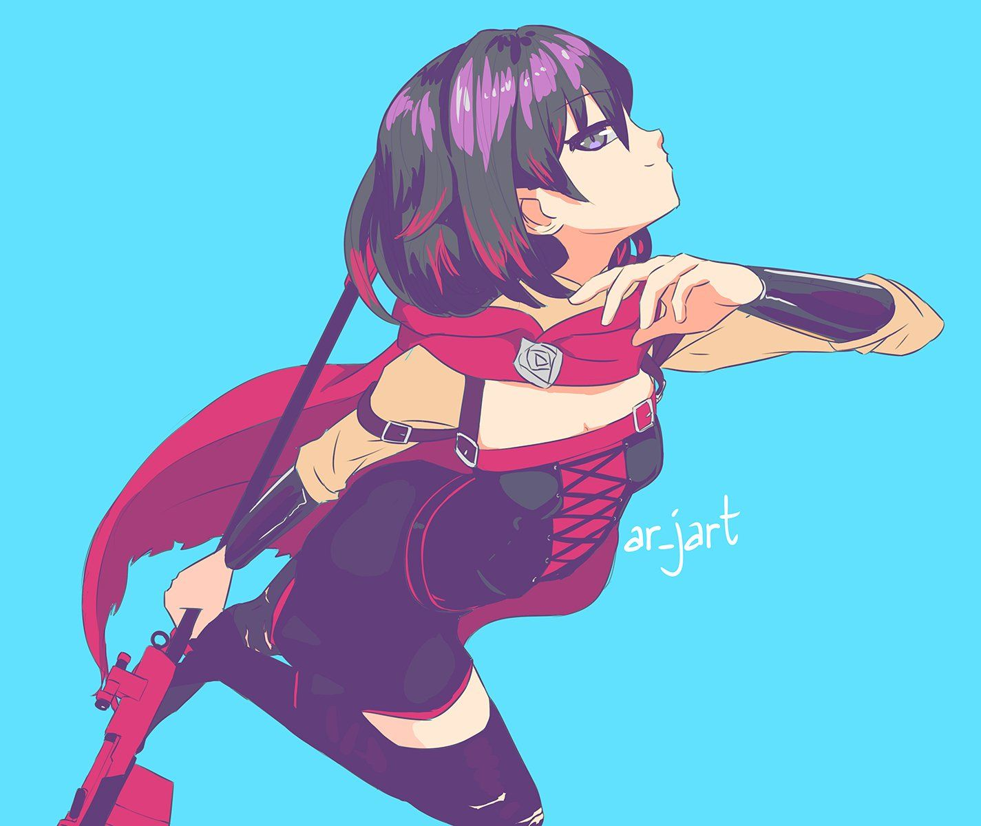 Arjart On With Images Dynamic Poses Character Art Rwby Anime