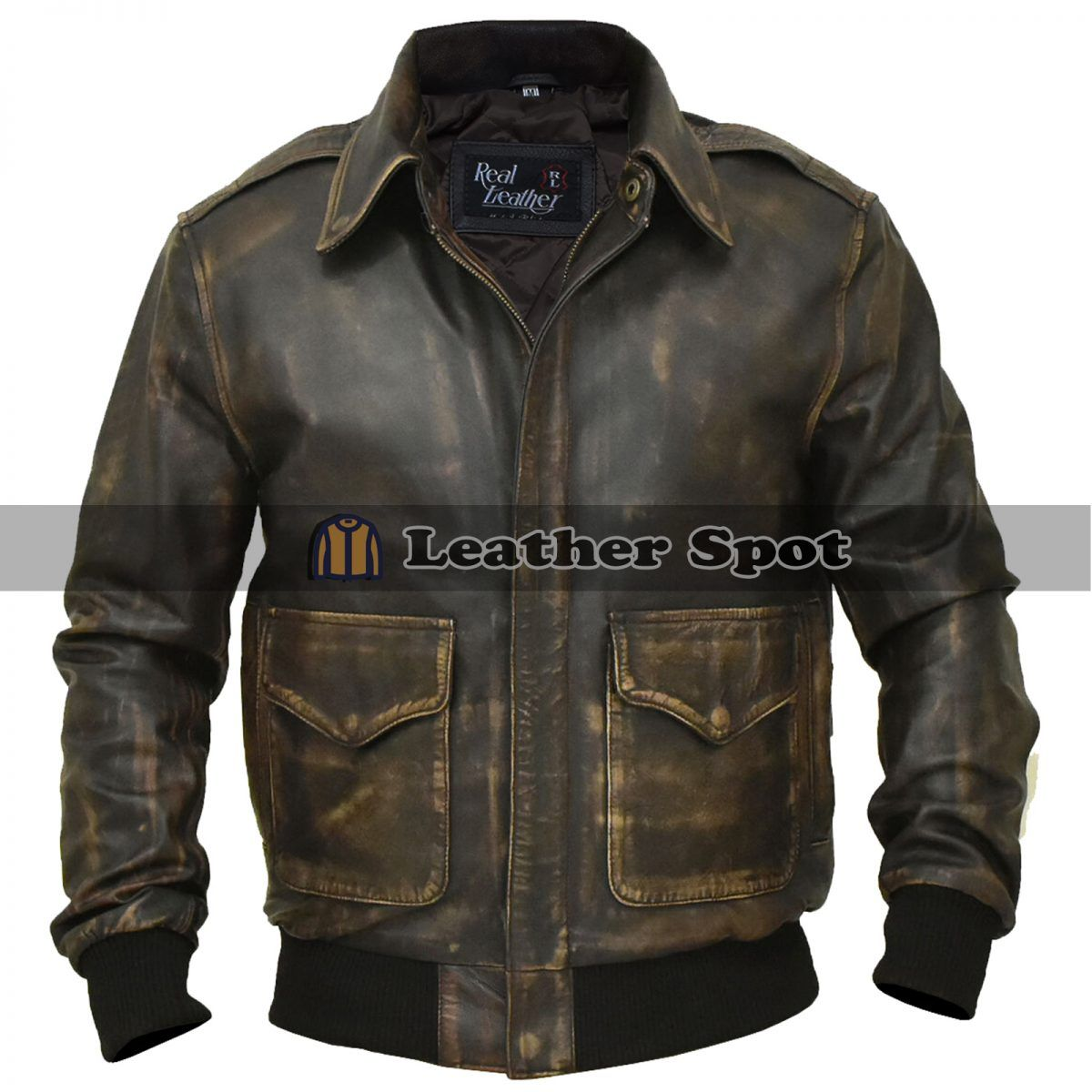 A 2 Aviator Air Force Flight Distressed Brown Military Jacket Lm Jackets Distressed Leather Jacket Aviator Leather Jacket Leather Jacket Men [ 1200 x 1200 Pixel ]