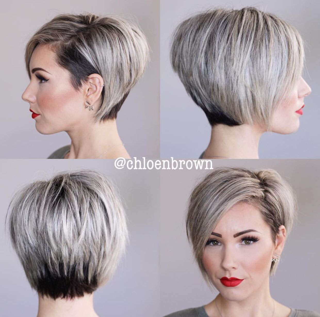 Chloenbrown insta beautiful bob n colour fashion in