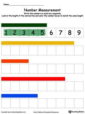 Measuring Numbers Ruler Part 2 In Color Printable worksheets