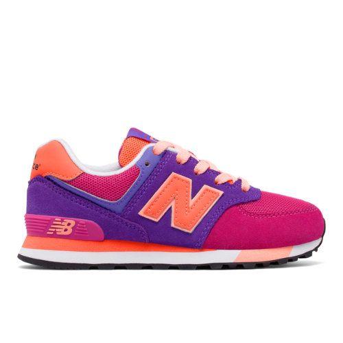 574 Cut and Paste Kids' Girls Pre-School Lifestyle Shoes - Pink/Purple/Orange (KL574AFP)