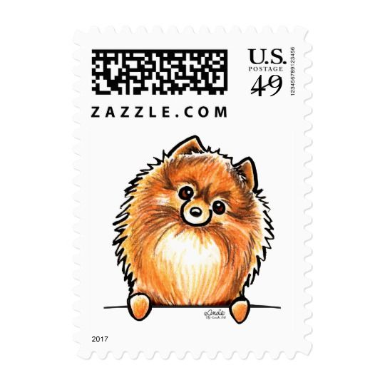 Red Pomeranian Paws Up Postage Zazzle Com With Images Puppy Sketch Pomeranian Dog Dog Drawing