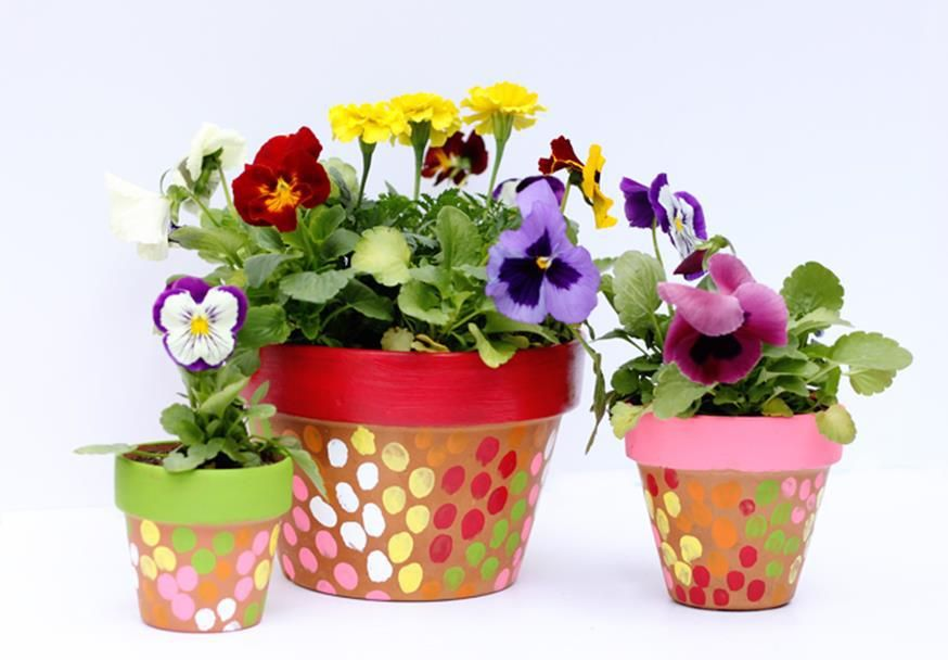 flower pot painting ideas for mother's day