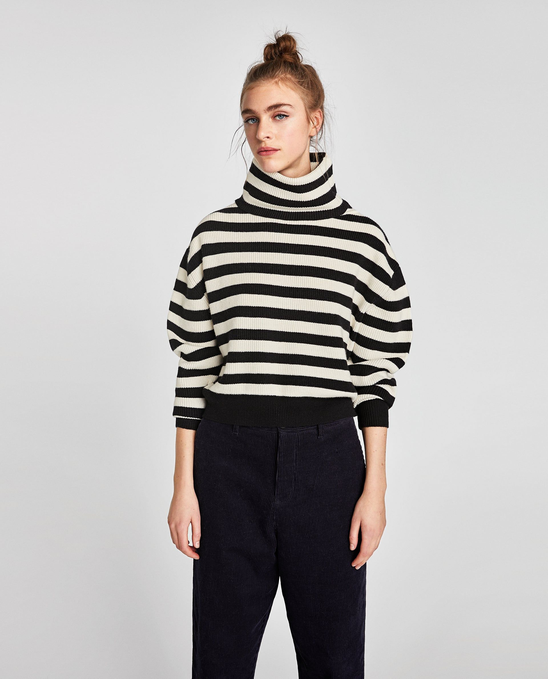 STRIPED TURTLENECK SWEATER | C U R R E N T M O O D | Pinterest ...