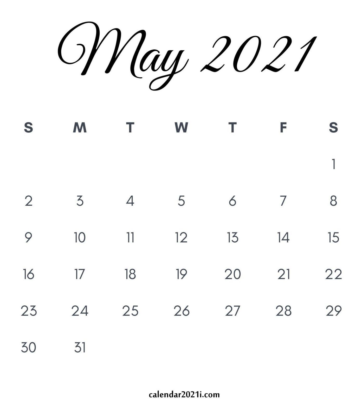 May 2021 Calendar Printable In 2020 2021 Calendar Calendar Printables Printable Calendar July