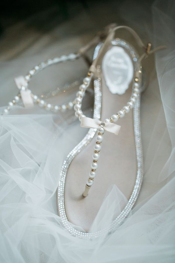 Pearl Beaded Thong Sandals Stylemepretty 2016 01