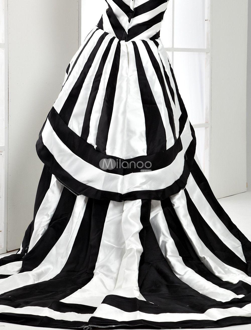Black & white striped dress...great for a Tim Burton/Halloween party ...