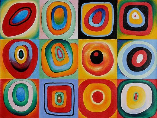wassily kandinsky farbstudie quadrate painting paintings pinterest abstrakte. Black Bedroom Furniture Sets. Home Design Ideas