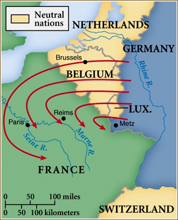 The Schlieffen Plan Was Devised By Alfred Von Schlieffen The Plan Was To Invade Belgium Which