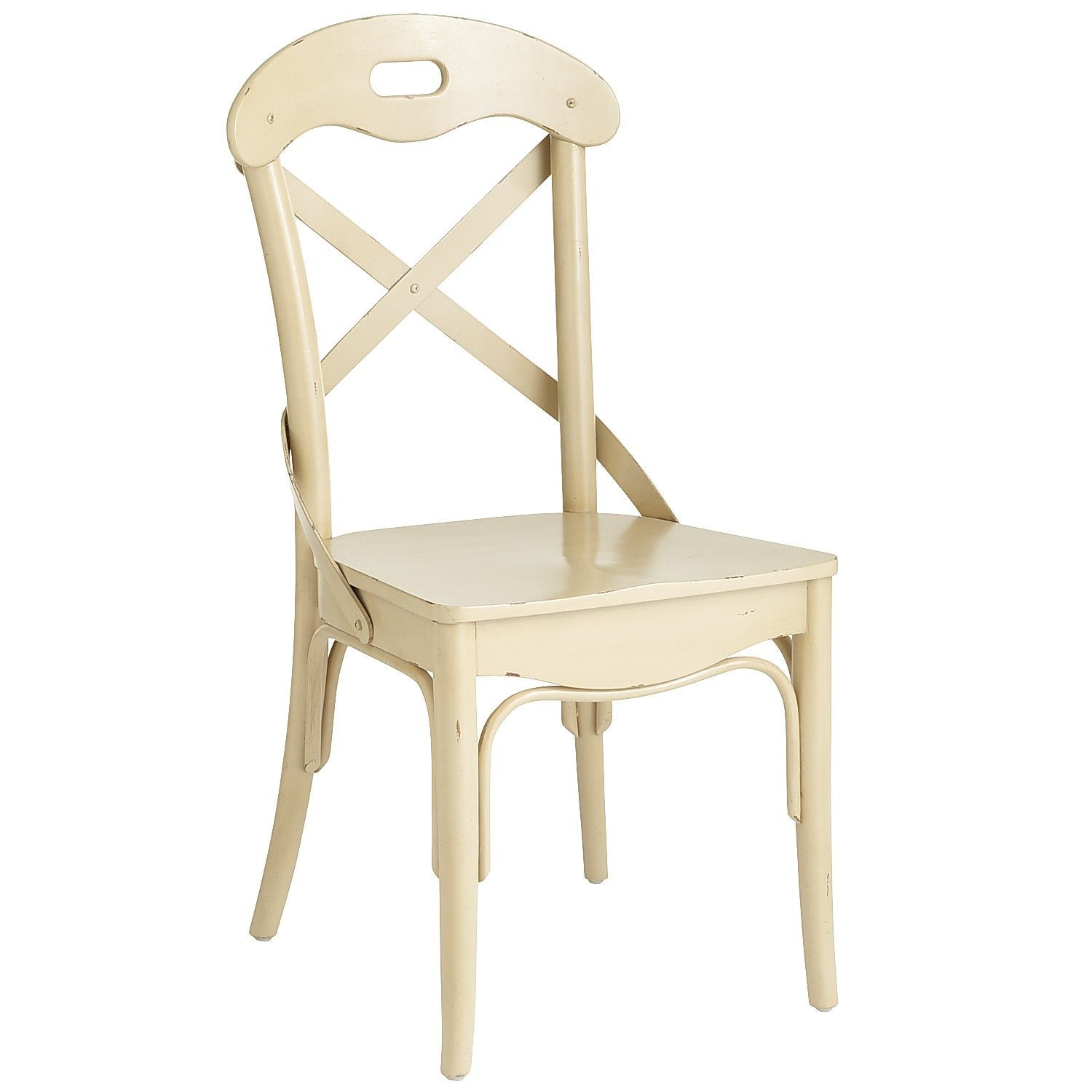 Pier 1: Curved Back Dining Chair - Distressed Ivory | Formal Dinning ...