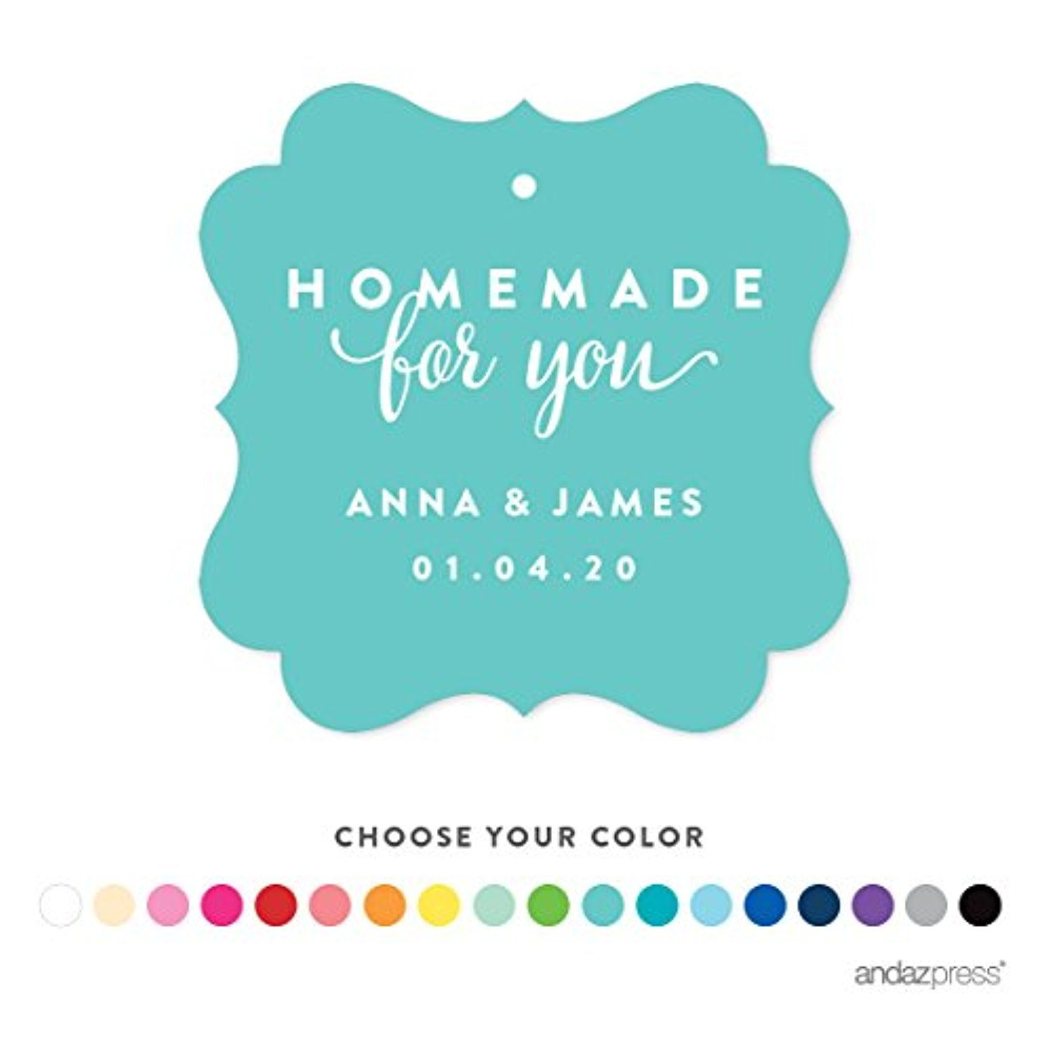 Andaz Press Personalized Fancy Frame Gift Tags, Homemade for You, 24-Pack, Custom Name and Color -- Awesome products selected by Anna Churchill