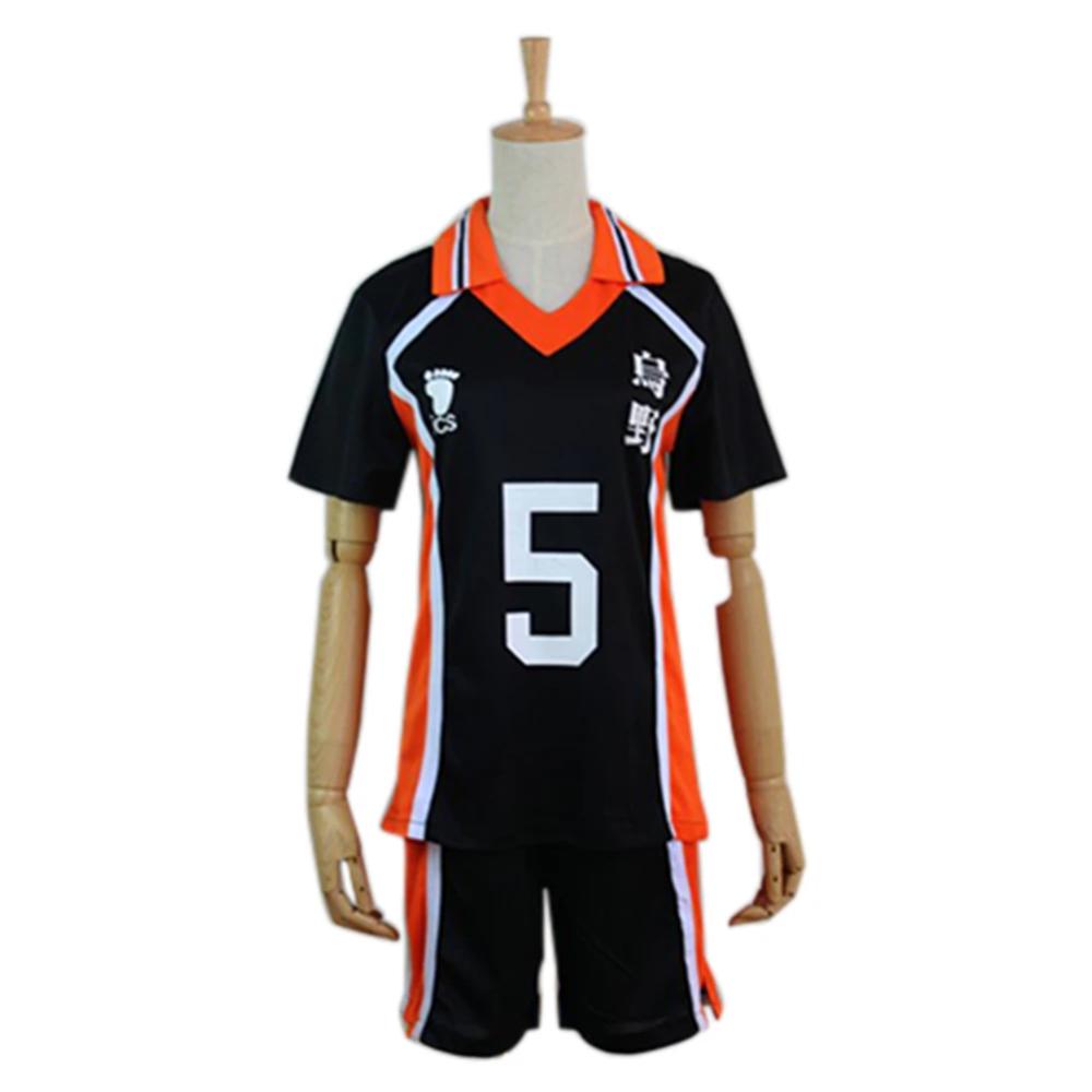 Haikyuu Cosplay Costume Karasuno High School Volleyball Club Tanaka Ryunosuke Sportswear Jerseys Uniform In 2020 Haikyuu Cosplay Cosplay Costumes Hip Shirts