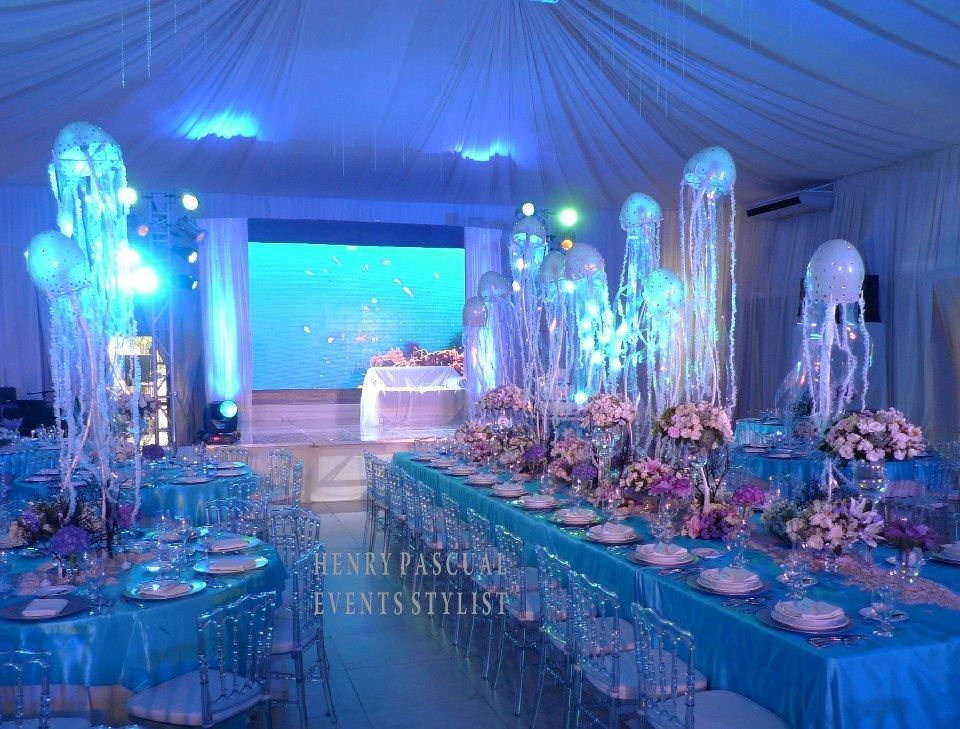 Wedding Styling By Henry Pascual Under The Sea Pinterest