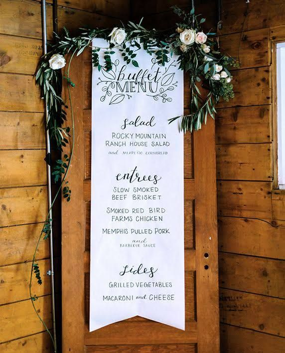 15 Absolutely Stunning Buffet Wedding Menu Ideas