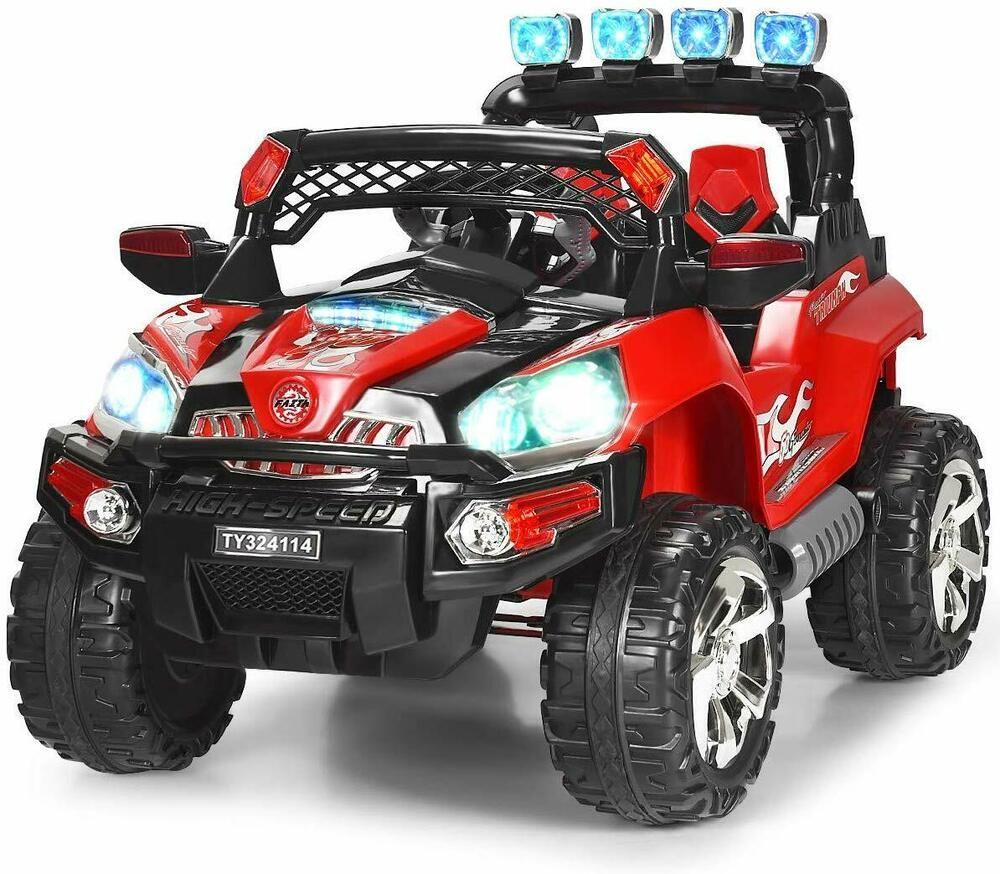Kids Ride On Wild Truck Powered Car 12V Battery LED MP3