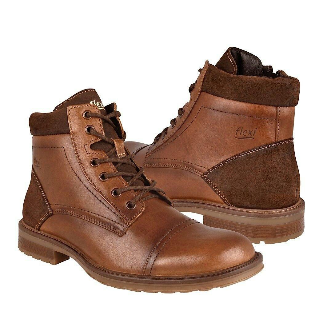 9c524c4c81 Ultra Chic Fashion Man Shoes Boots - Flexi 97001 Brown Botas Flexi