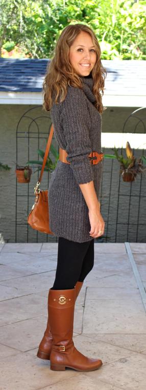 Today's Everyday Fashion: The Sweater Dress #sweaterdressoutfit