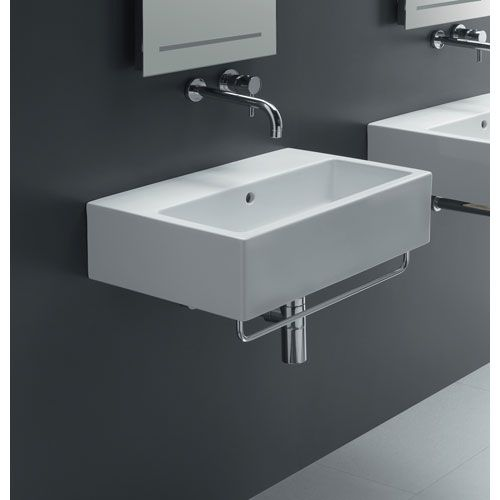 Ice 60 Wall Mounted Sink Without Faucet Hole Bissonnet Bathroom Sinks Bath