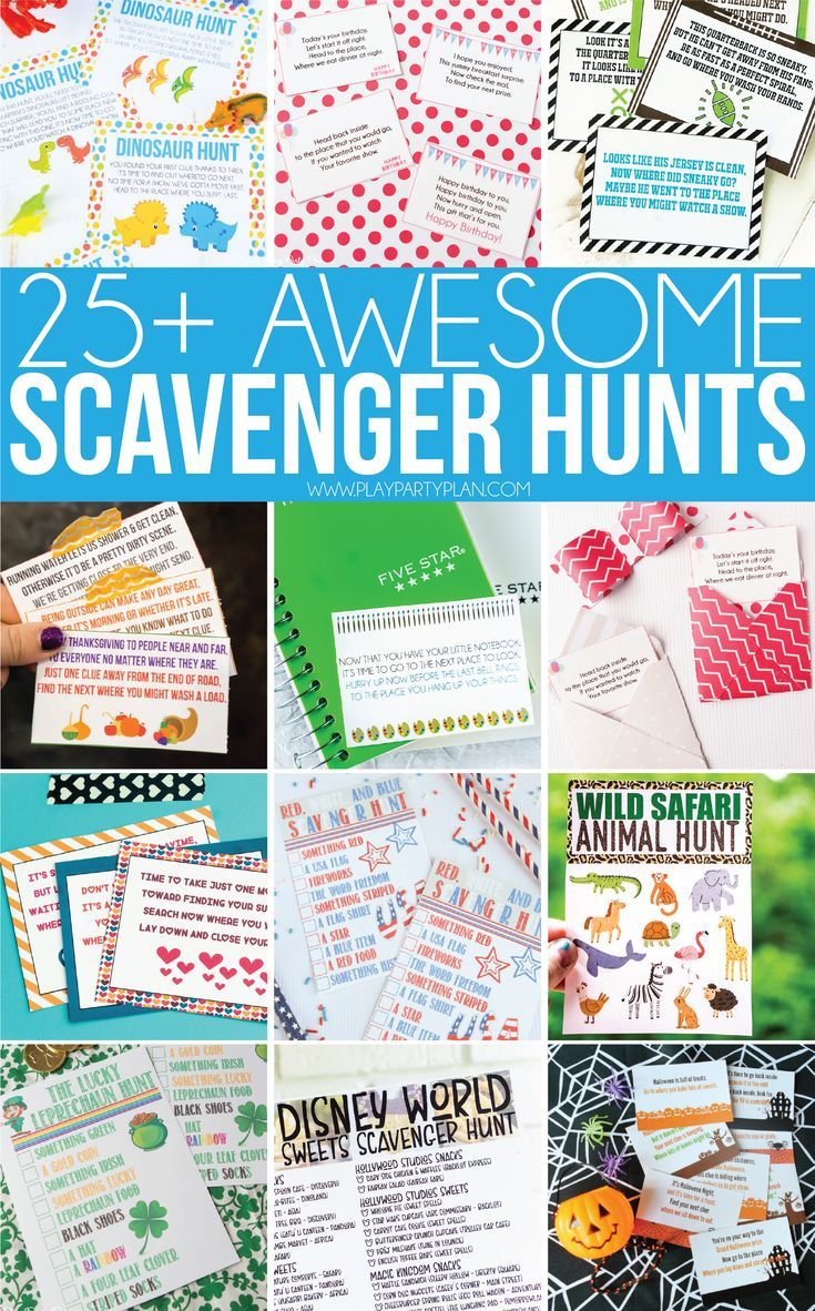 The best scavenger hunt ideas for all ages - for kids, for teens, for adults,  and even for preschoolers! There's something for everyone including i…