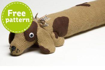 Dog Draught Excluder | Free pattern, Sewing patterns free