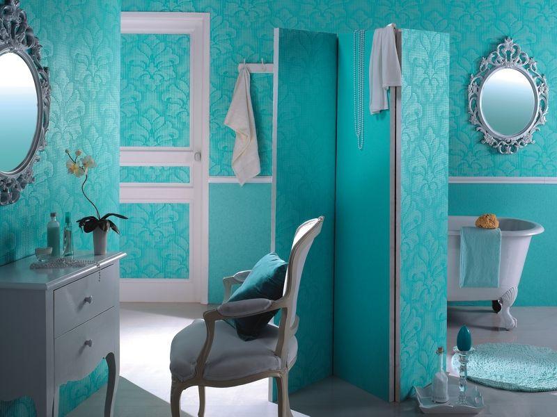 Tapete Badezimmer ~ Bad mit bemusterten tapeten colour up tapeten