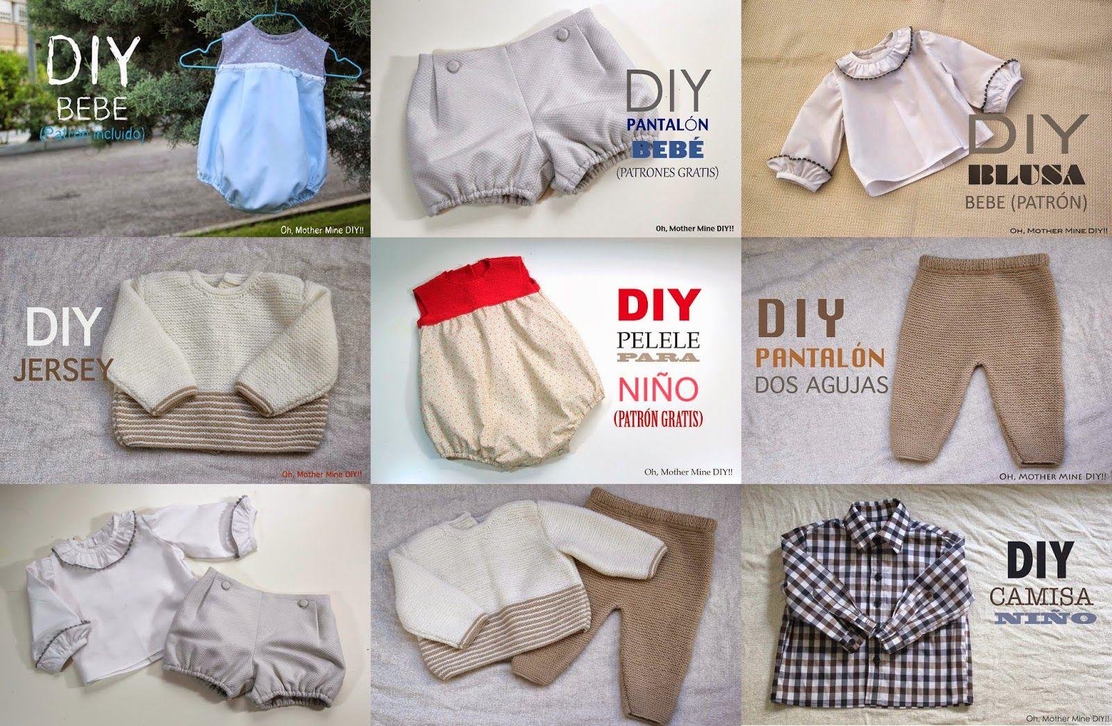 Patrones y tutoriales de ropa para niños y bebés gratis (Oh, Mother ...