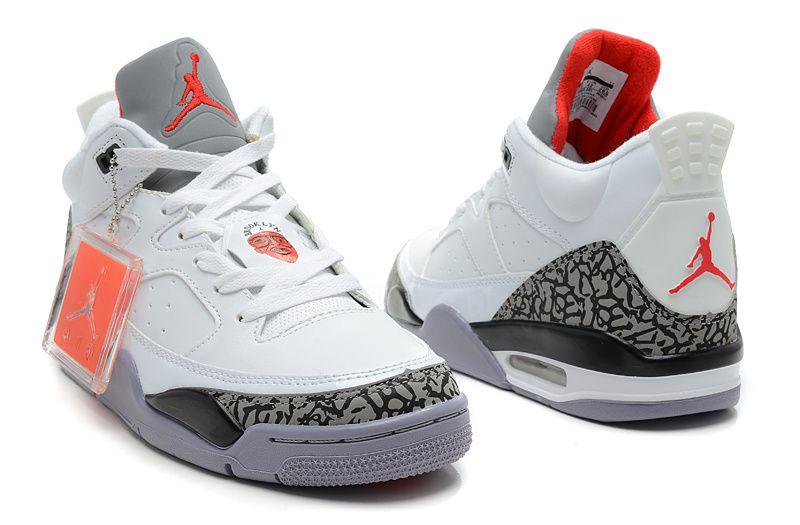 Michael Jordan shoes  Air Jordan 3 Retro White Fire Red Cement Grey Shoes