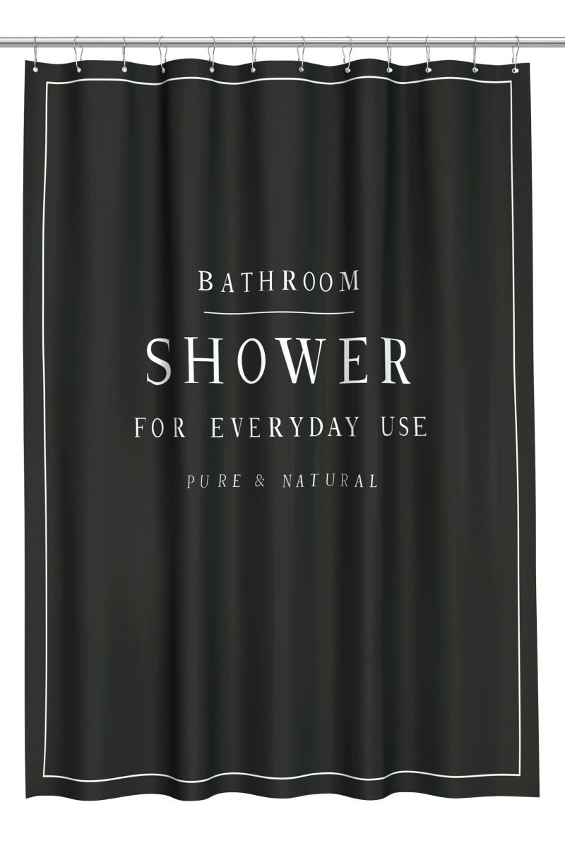 Shower Curtain Black H M Home H M Us Schwarzer
