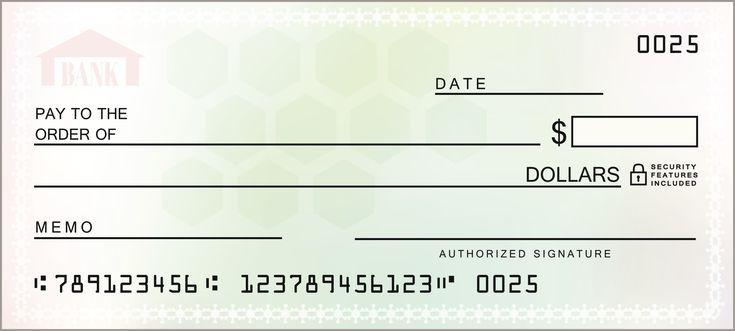 Quick Checks Printed At Your Bank Branch Blank Check Business Checks Teaching Teens