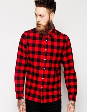 c60b52bee6cd ASOS Shirt In Long Sleeve With Brushed Buffalo Check   Billy Huxley ...