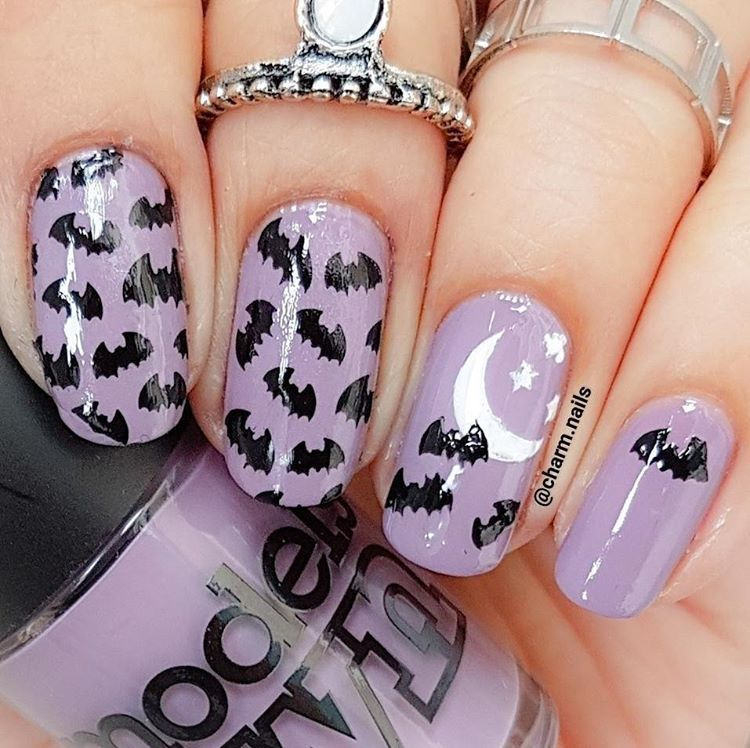 Moon and Stars Nail Decals | Nail stencils, Nail decals and Manicure