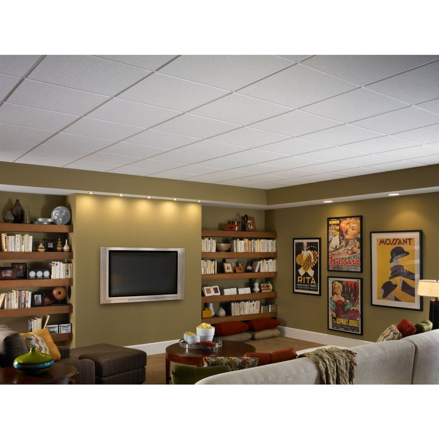 Shop Armstrong 24 In X 24 In Oasis Homestyle Ceiling Tile Panel At
