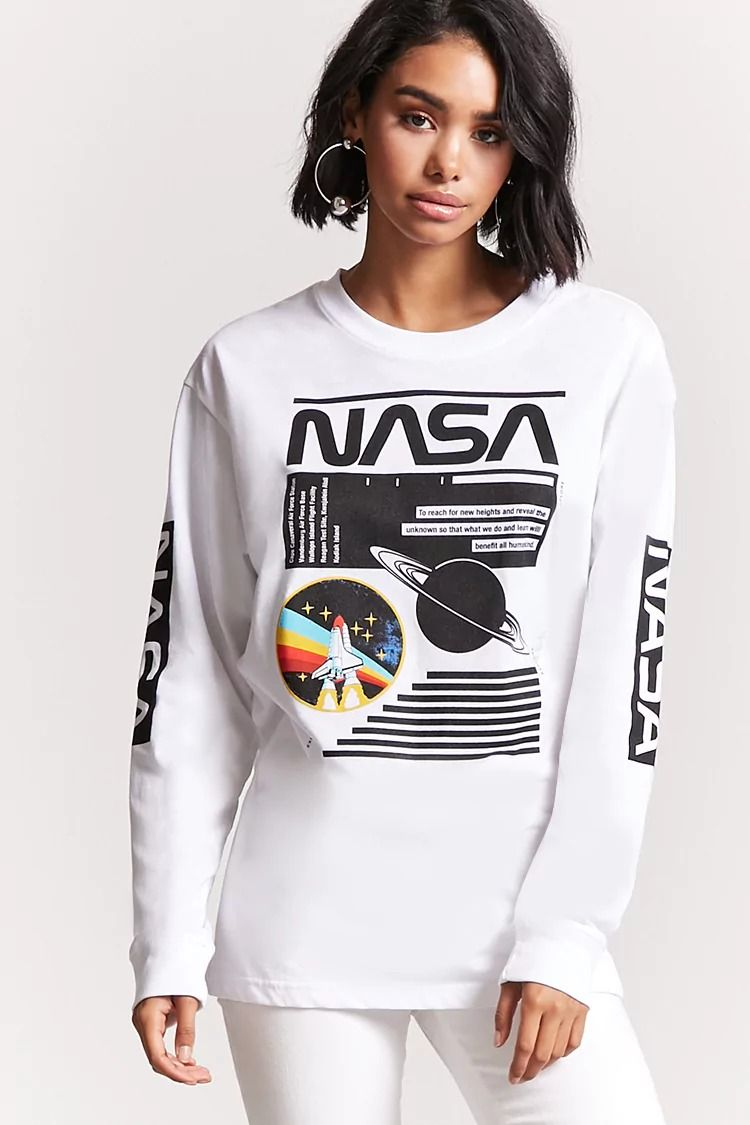 85f85b241681 NASA Graphic Long-Sleeve Tee | Forever 21 | LICENCE | Graphic tee ...