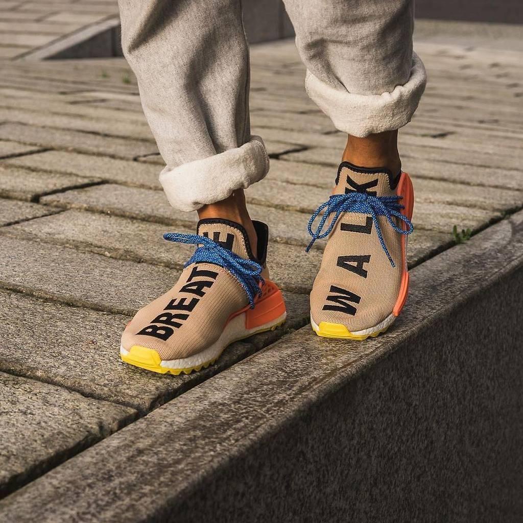Mens size Human Race Adidas HU Trail Pale Nude PW