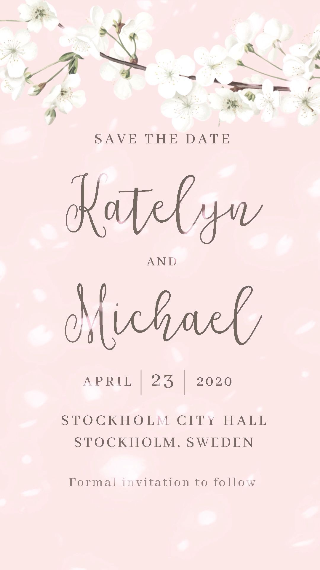 Logo Discover Cherry Blossoms Invitation Save The Date Ideas Save The Dat Electronic Wedding Invitations Digital Wedding Invitations Disney Wedding Invitations
