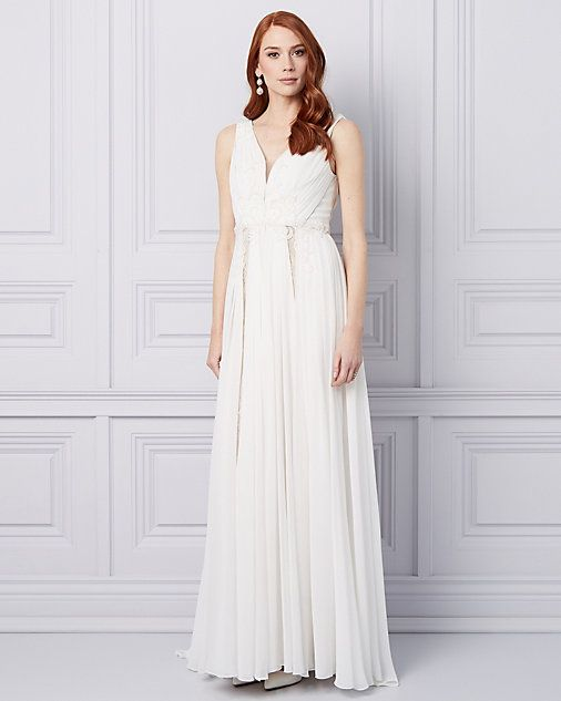 8ae1d58cf5b0 Embroidered Chiffon V-Neck Gown | THE WEDDING BOUTIQUE | Formal ...