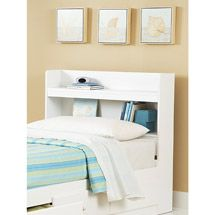 Walmart New Visions By Lane My Place Space Twin Bookcase Headboard White