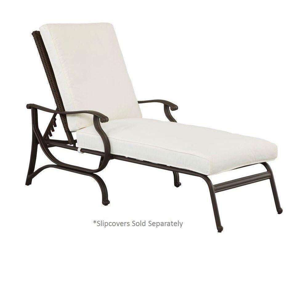 Hampton Bay Pembrey Patio Chaise Lounge With Cushion Insert