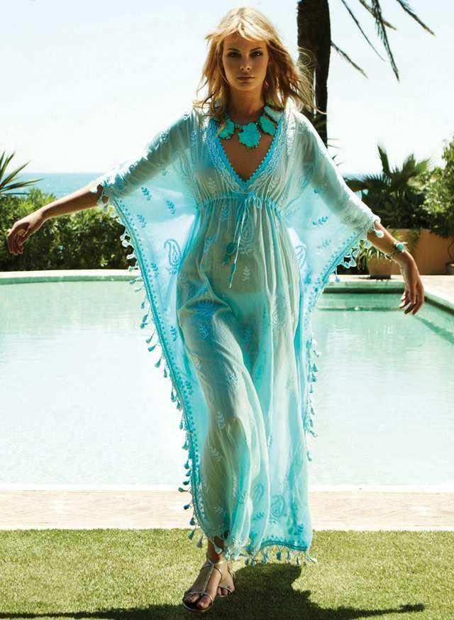 пляжные платья парео