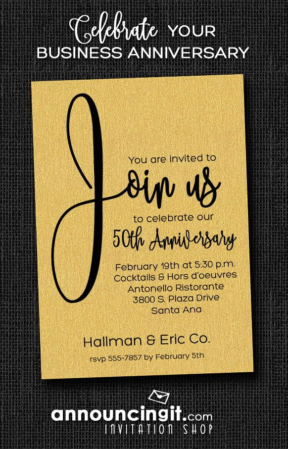 Join us shimmery white business anniversary invitations pinterest join us shimmery white business anniversary invitations pinterest anniversary invitations business invitation and dinner party invitations stopboris Images