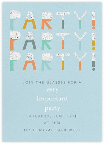 Festive Birthday Party Invitations For Everyone Available Online And On Paper